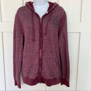 i Jeans by Buffalo Maroon Zip Up Hoodie